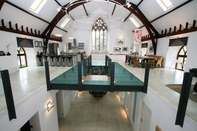 Church converted into bedroom and living room. | Converted Spaces ...