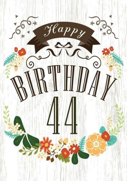 Happy Birthday 44 Books For Women Journal Notebook Year Old Journalin