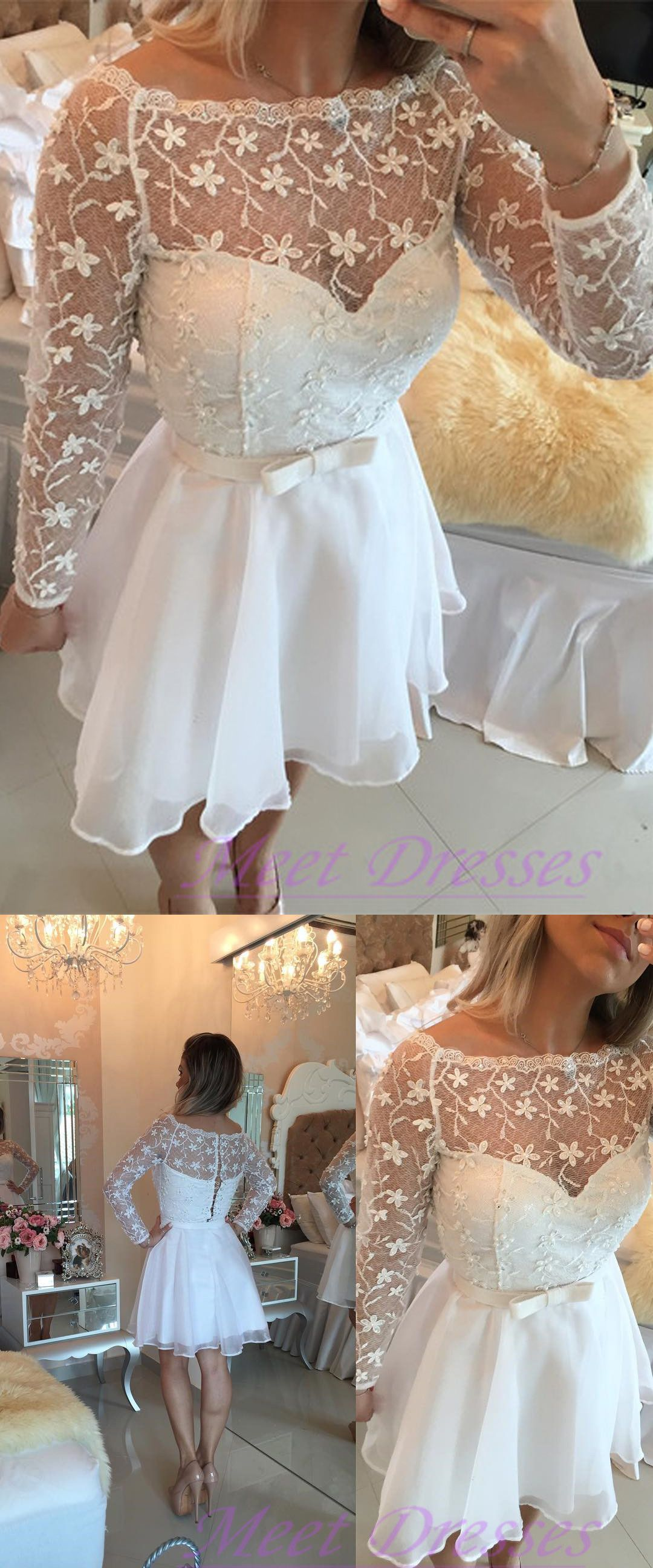 New fashion long sleeves prom dresses modest homecoming gown for