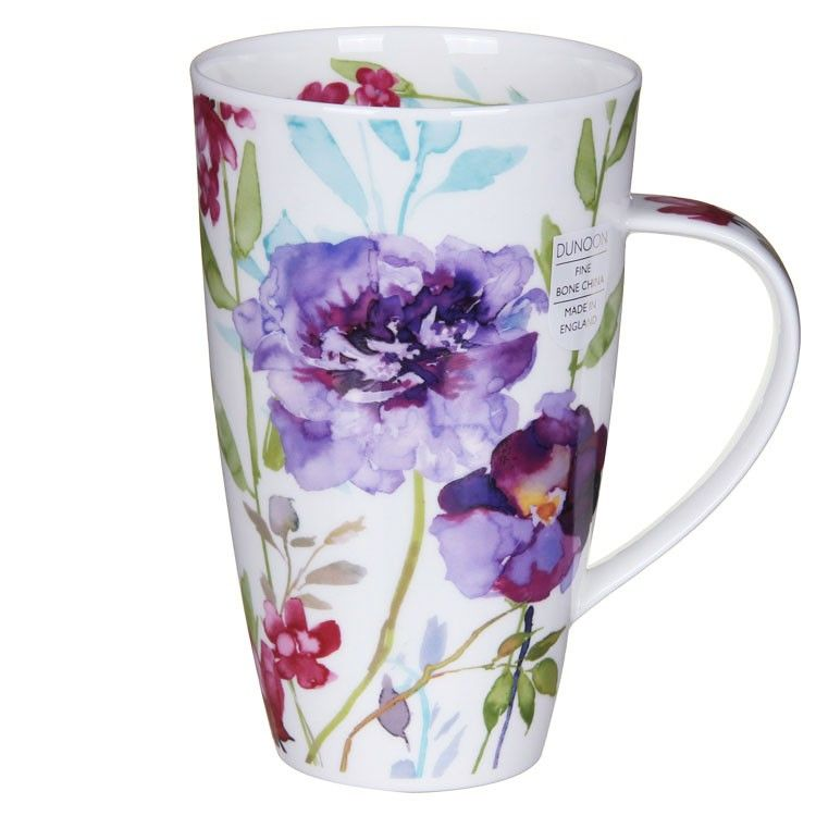 Dunoon Bloom Purple Henley Shaped Mug   Temptation Gifts