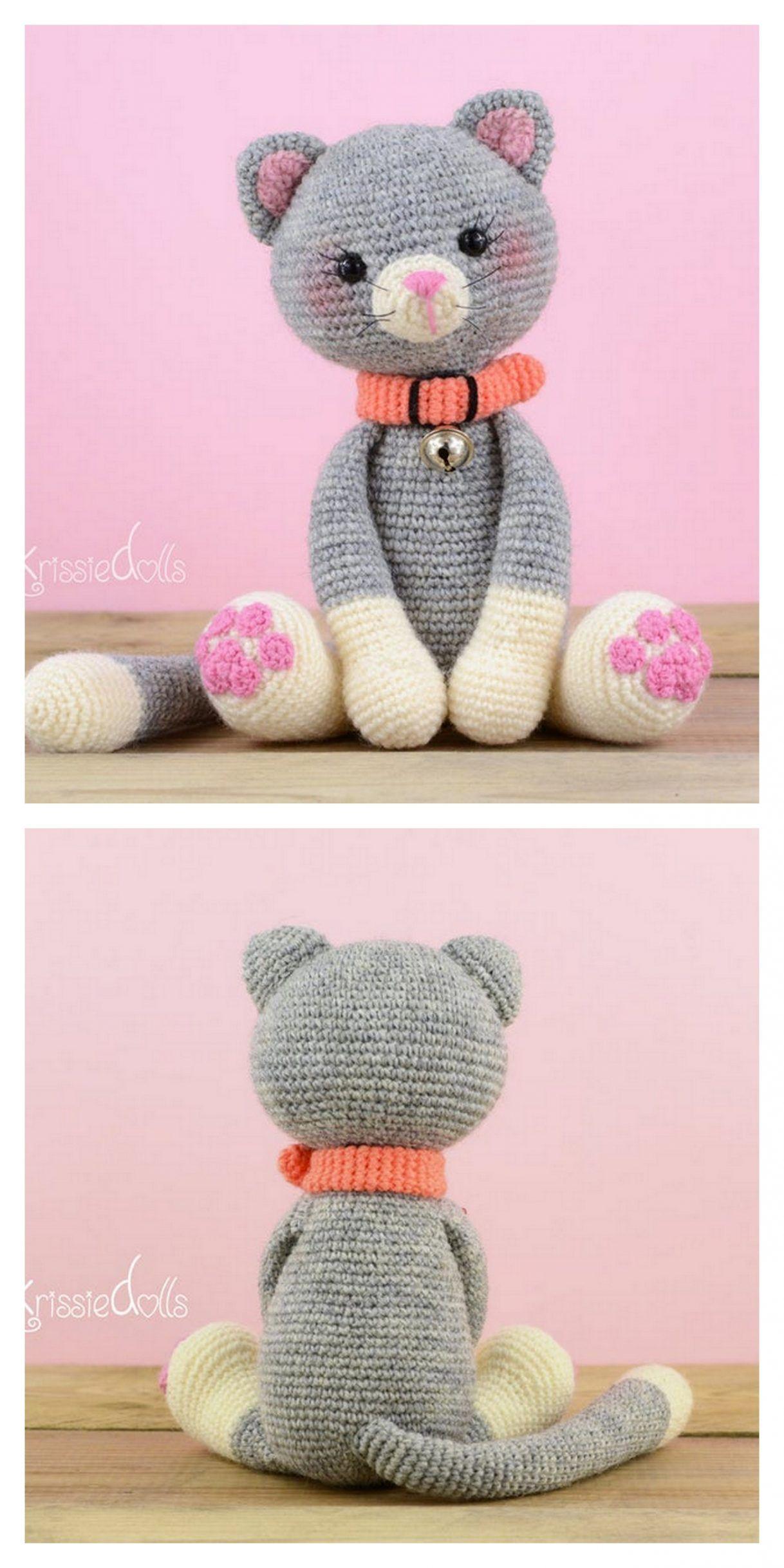 Crochet Cat Amigurumi Plush Free Pattern Free Amigurumi Patterns In 2020 Crochet Cat Amigurumi Free Pattern Crochet Cat Toys