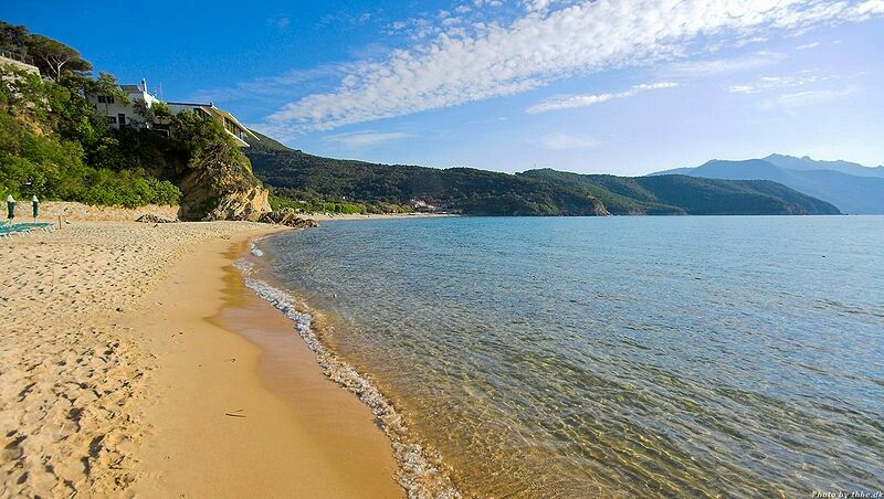 Strand an der Toscana, Italien