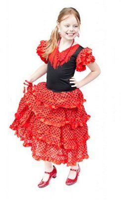 8c3d7363d La Senorita Spanish Flamenco Dress Fancy Dress Costume Girls   Kids ...