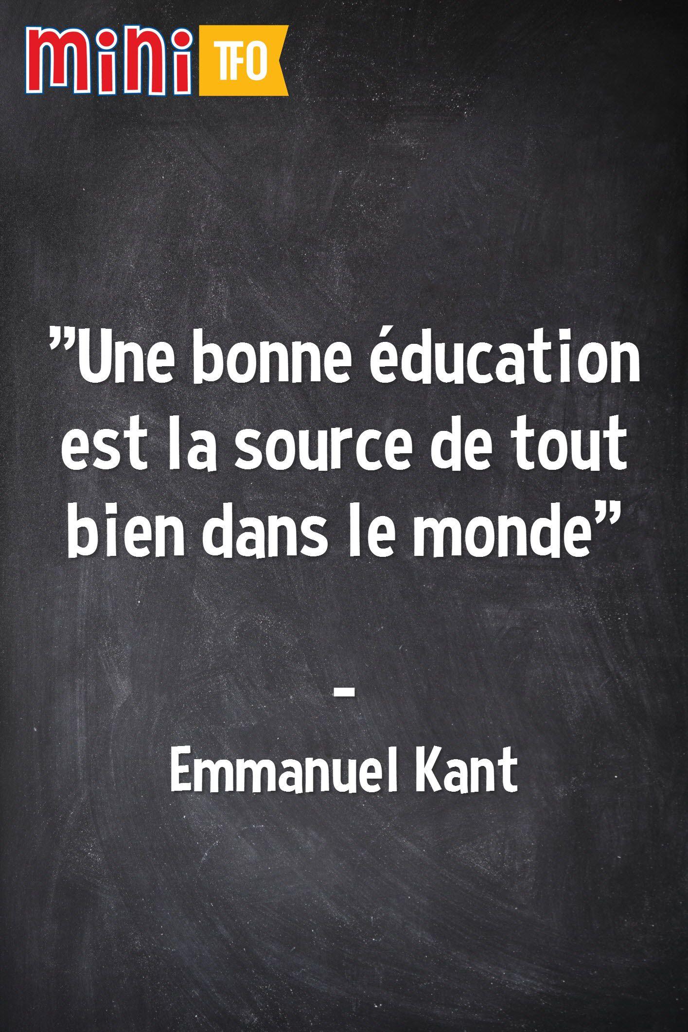 Une Bonne Education Est La Source De Tout Bien Dans Le Monde Emmanuel Kant Philosophy Cards Against Humanity