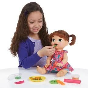 Baby Alive Super Snacks Snackin Sara Brunette Target Baby Alive Baby Dolls Baby Dolls That Cry