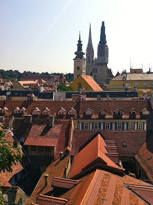 Rooftops Of Zagreb By Mb Matthews Zagreb Zagreb Croatia Cool Places To Visit
