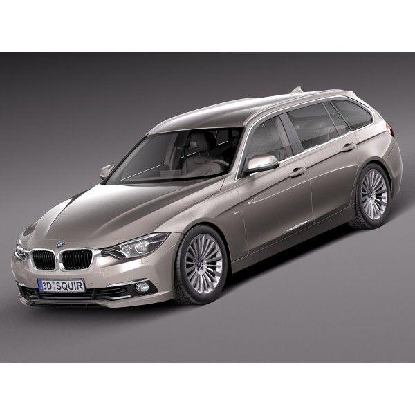 BMW 3-Series Touring F31 2016 - 3D Model