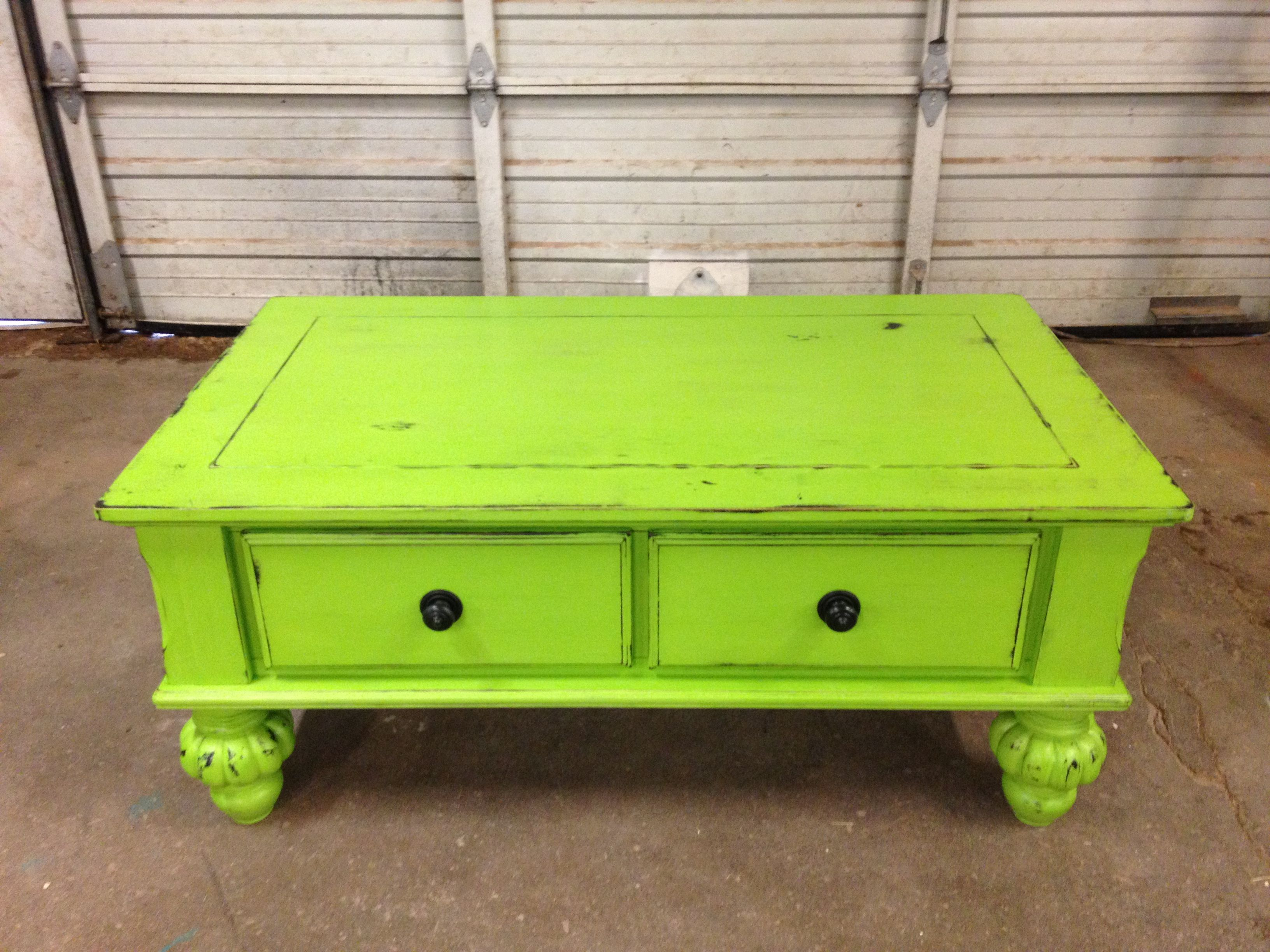 Lime green coffee table americanpaint pany apc oldstore