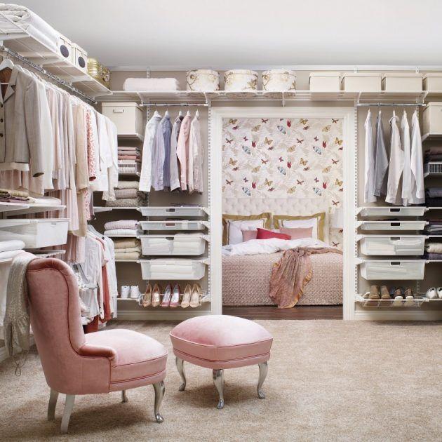 Begehbarer kleiderschrank rosa  Aufbewahrung von Kleidung | Mädchentraum, Begehbar und Wandregal