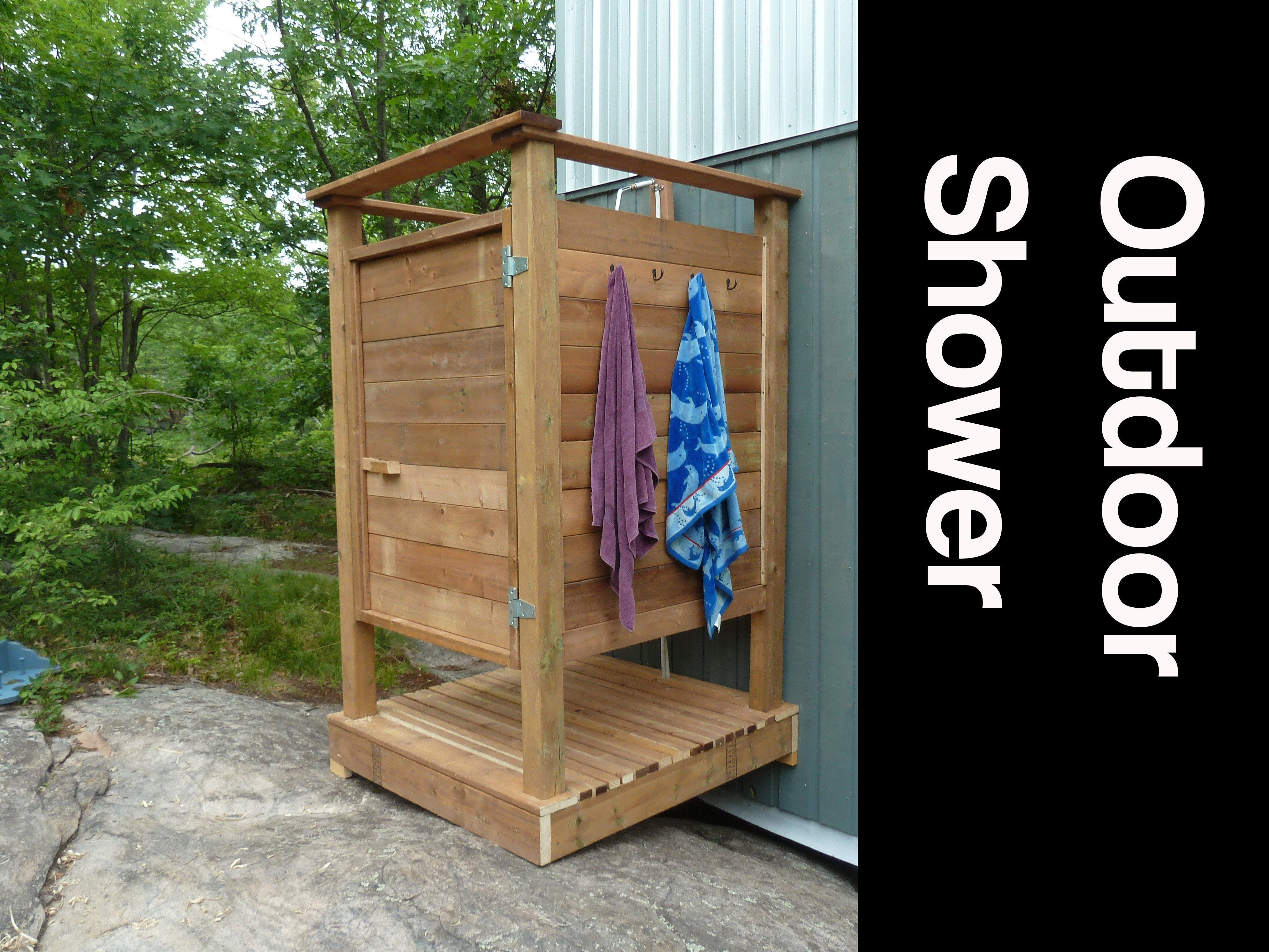 How To Make An Outdoor Shower Youtube With Images Outdoor
