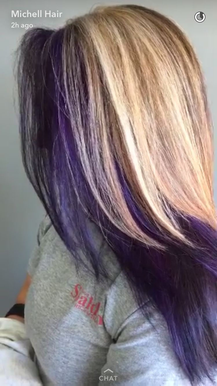 Blond And Purple Hair Hair Styles Hair Purple Blonde Hair