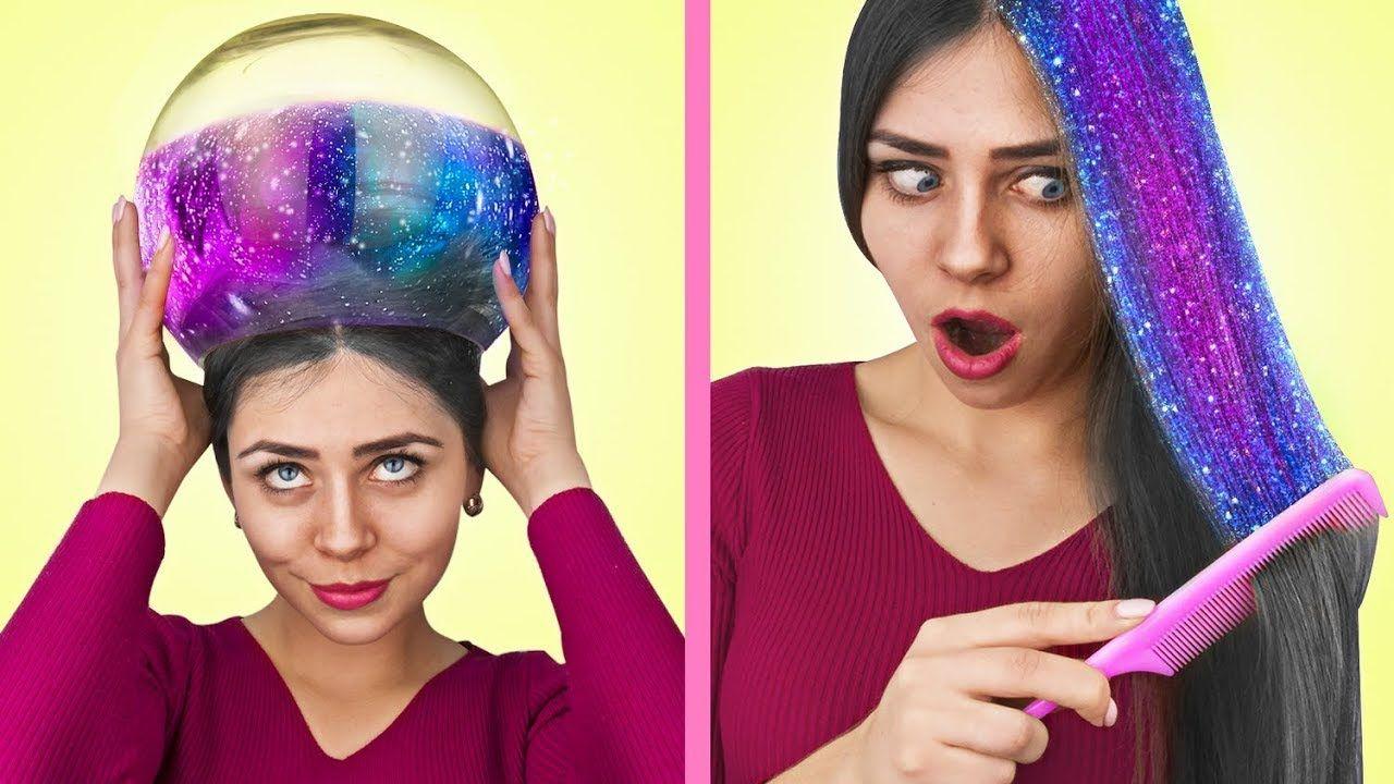13 Easy Hairstyles And Hair Hacks! - YouTube in 2020   Hair hacks, Easy hairstyles, Hair styles