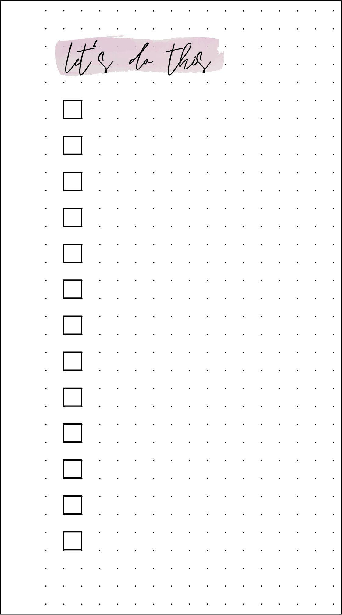 Filofax Monatsübersicht & To-do-Liste