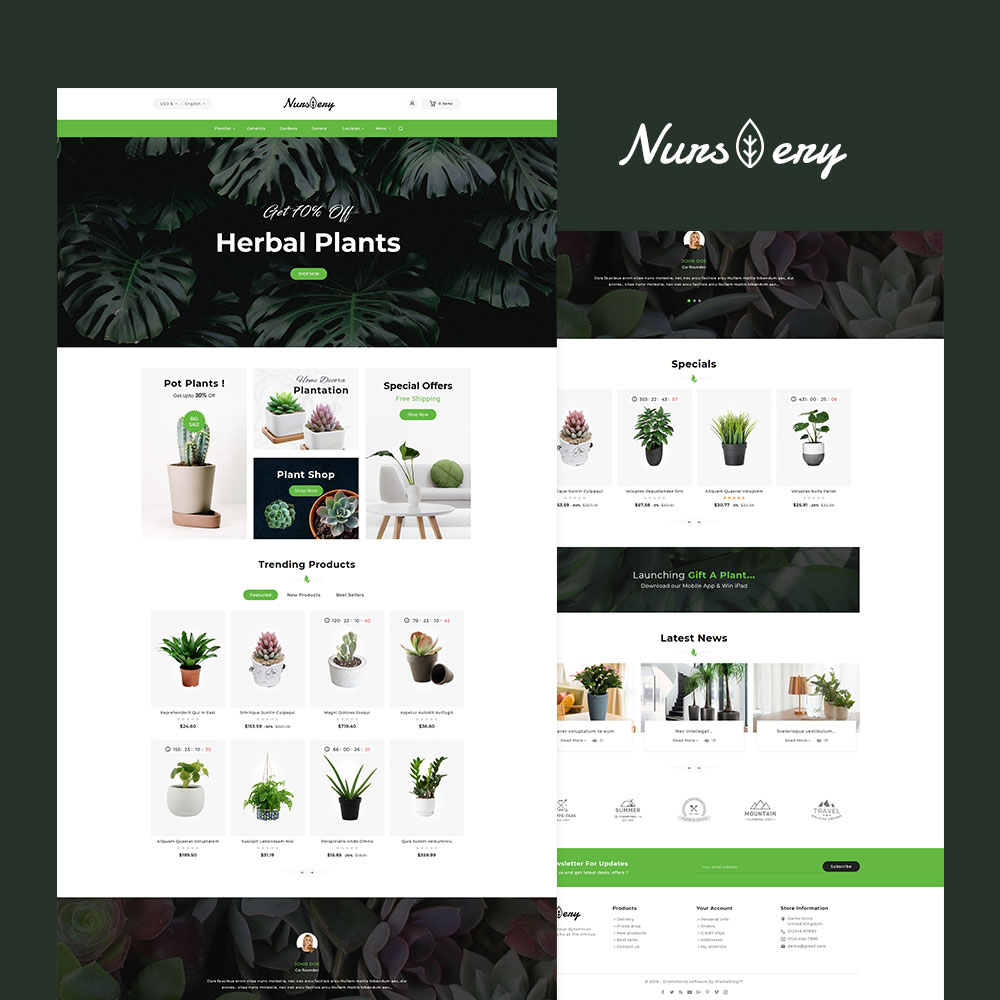 Nursery Plant Amp Garden Tools Prestashop Responsive Theme