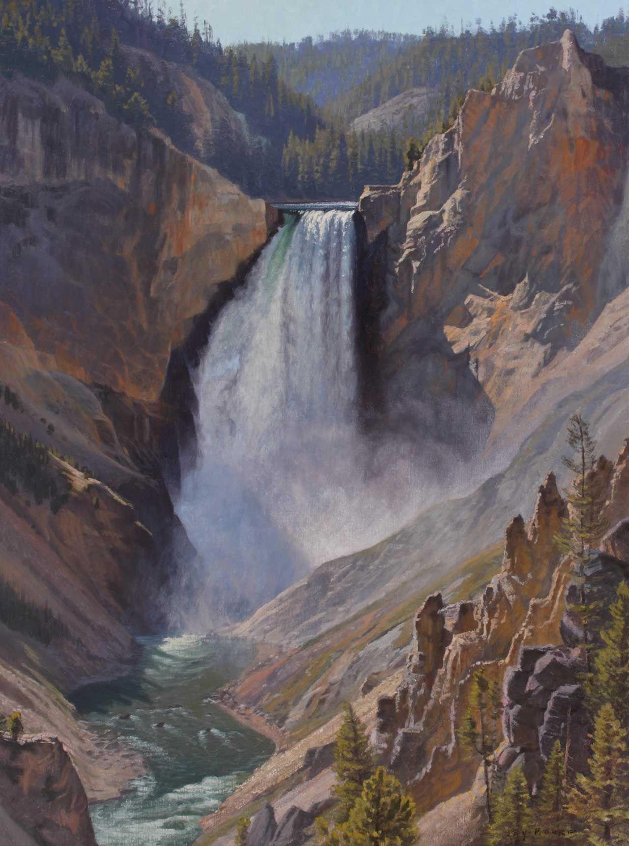 Yellowstone Falls Yellowstone National Park Landscape