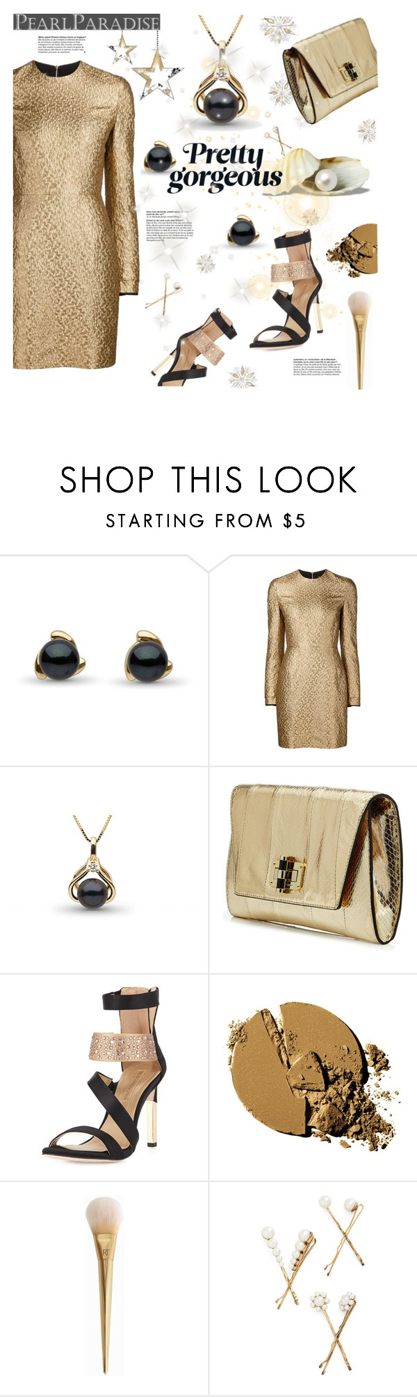 """""""Pretty Gorgeous"""" by einn-enna ❤ liked on Polyvore featuring Creatures Of The Wind, Diane Von Furstenberg, BCBGMAXAZRIA, pearljewelry and pearlparadise"""