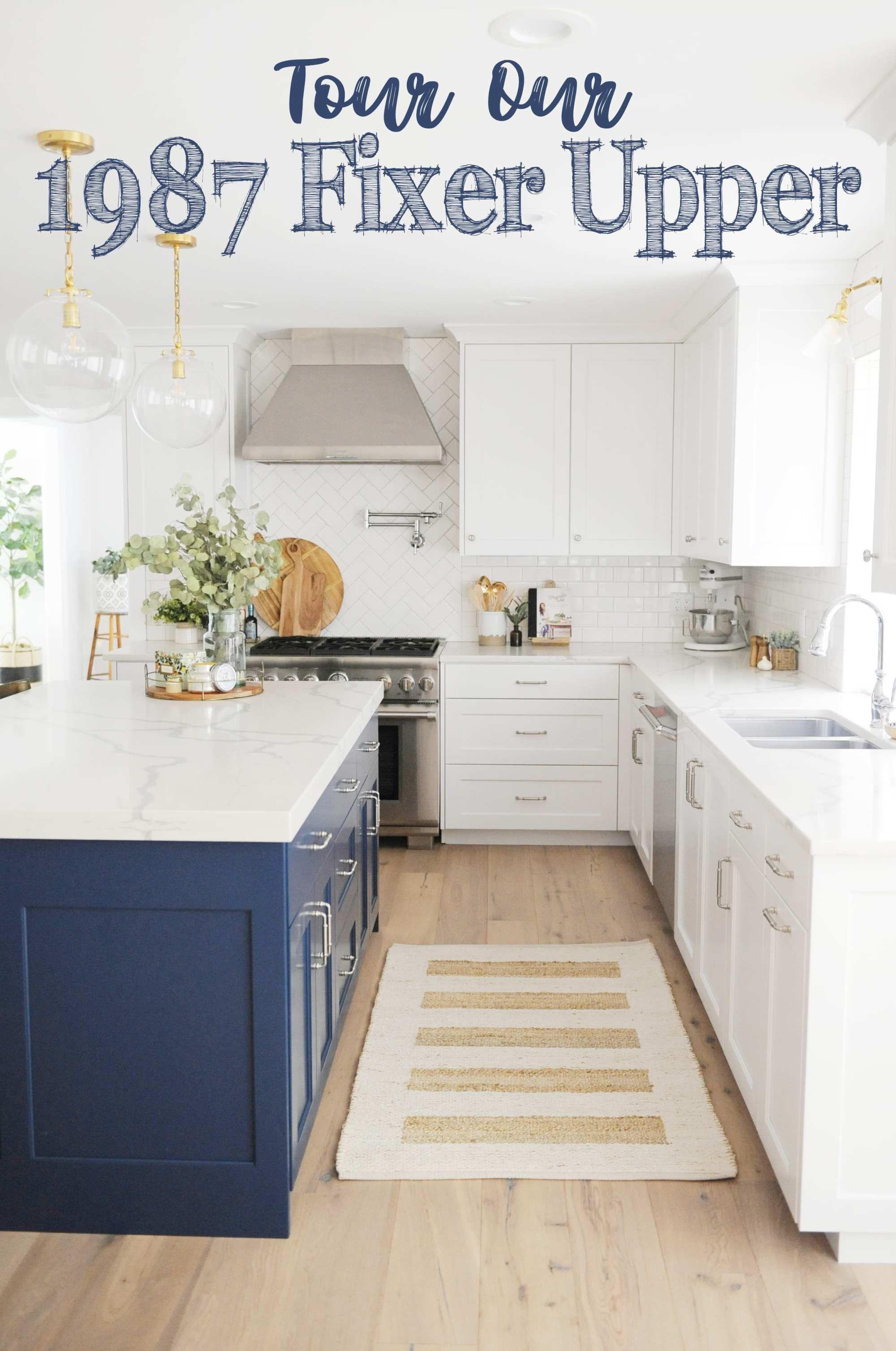 Current Home Tour Our 1987 Fixer Upper In 2020 Fixer Upper Kitchen Kitchen Remodel Kitchen Decor