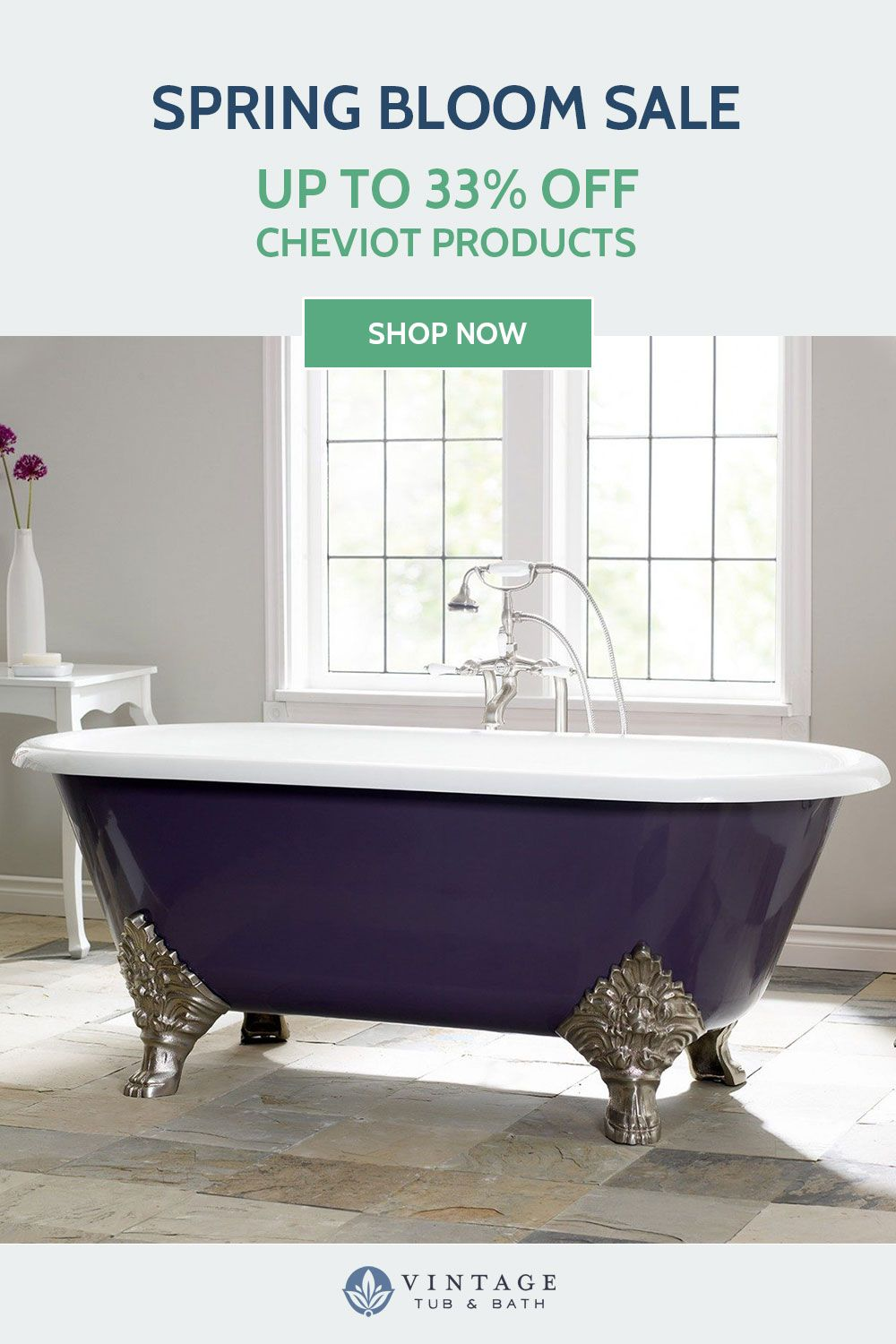 Now Through 4 30 Save Up To 33 On Cheviot Products Vintage Tub Vintage Bathrooms Classic Bathroom