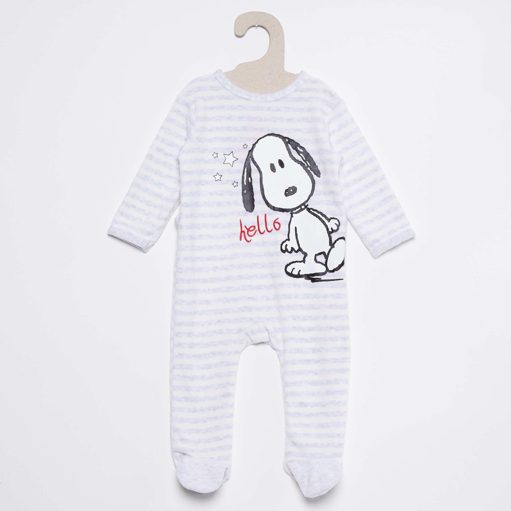 taglia 40 6f753 346cc Pigiama ciniglia 'Snoopy' bianco Neonato | Baby | Neonato ...