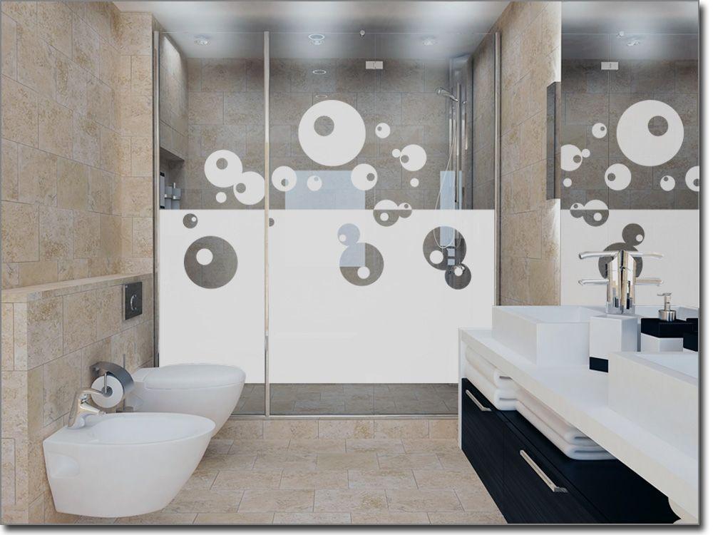 Scheibenaufkleber für Duschkabine und Fenster Sichtschutzfolie - folie für badezimmerfenster