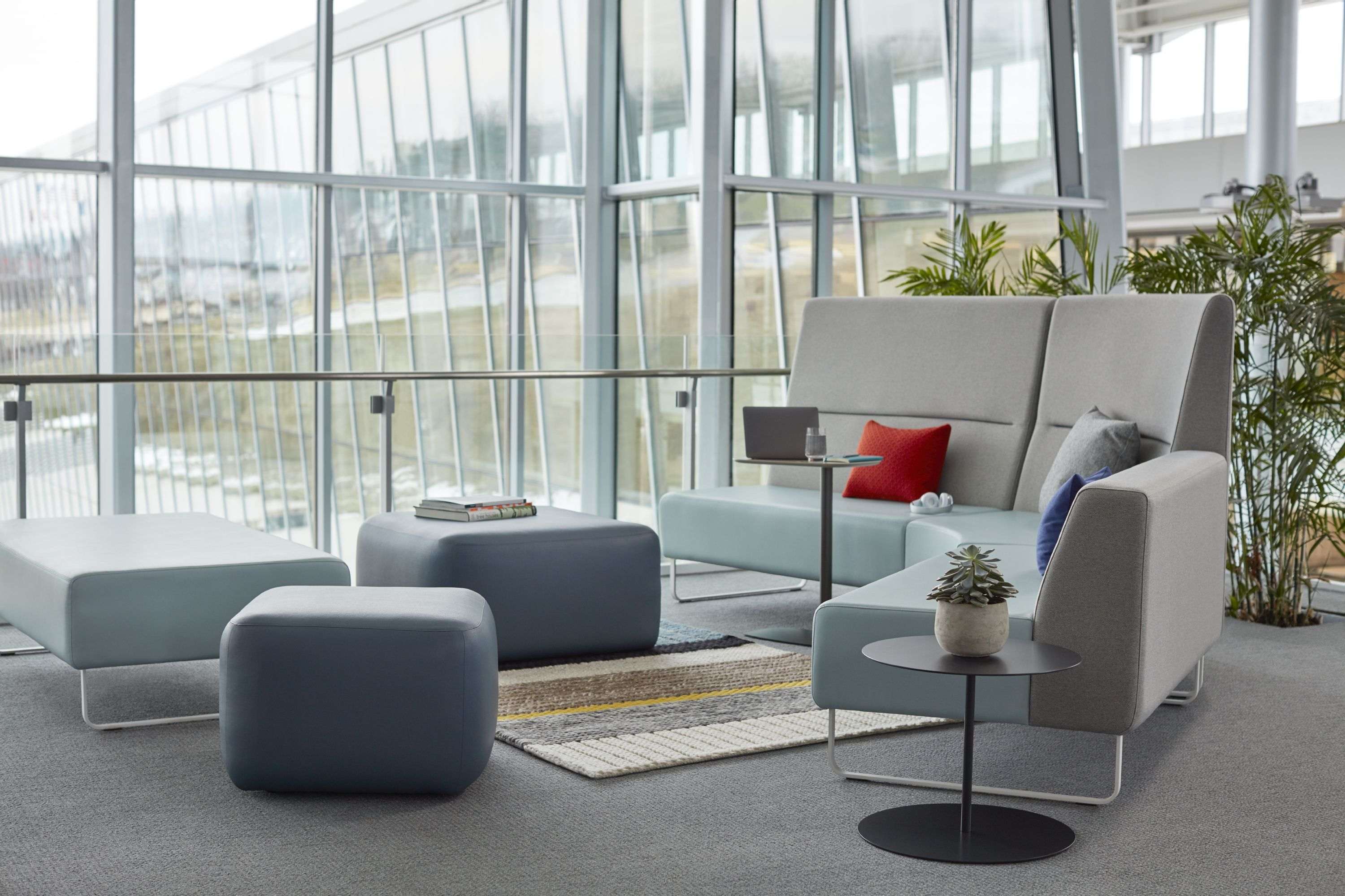 The haworth riverbend pebble designed by fletcher vaughan offers flexibility for smart space planning these pieces are easily configured to let you