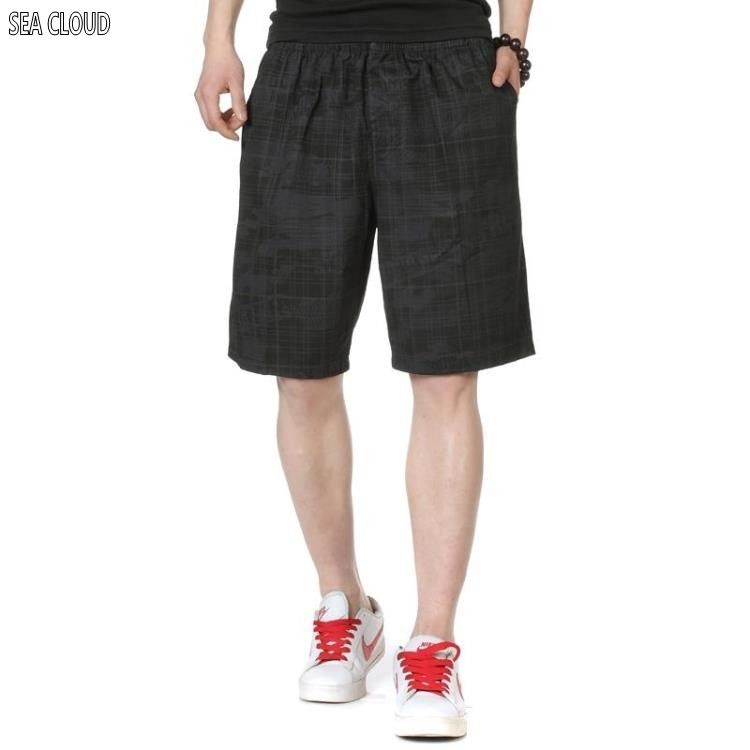 9113cb45ab5b Sea Cloud Free shipping shorts male loose knee-length Elastic Waist hiphop  plus size men