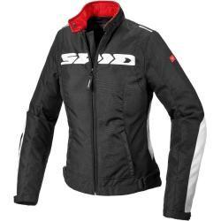 Spidi H2Out Solar Ladies Motorcycle Textile Jacket Black White Xl Spidispidi