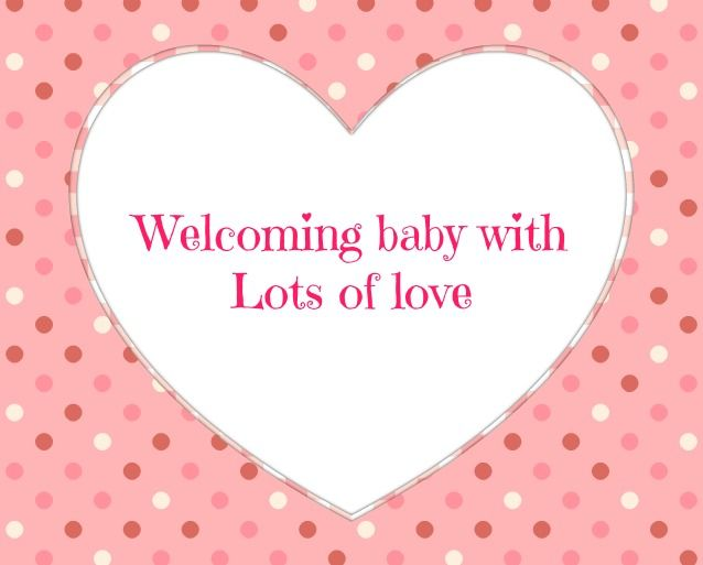 Baby Shower Message Greeting Card Welcoming baby with lots – Baby Shower Message