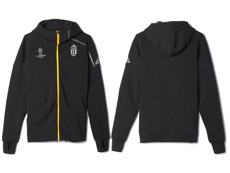 ebb2c90d414a Juventus Black 2016-17 UEFA Champions League Anthem Z.N.E. Hoodie ...