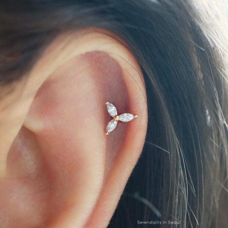 6febb8c827ea Trinity Marquise Cartilage Piercing  helixpiercing  cartilagepiercing   earpiercing  cutepiercings  cartilage