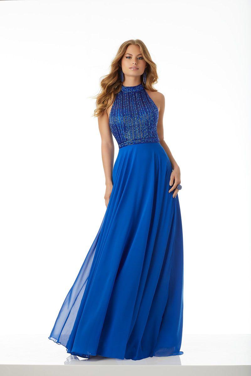 Mori Lee 42049 Formal Approach Mori Lee Prom Dresses Chiffon Gown Prom Dresses Blue