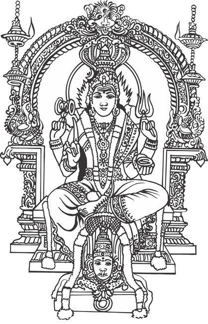 Samayapuram Mari Amman Indian God Vector Clipart Jpg 418 650 Goddess Artwork Lord Shiva Painting God Art