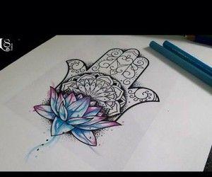 ... tattoos tattoo inspiration tattoo ideas drawing hand of fatima tattoo  Hamsa Hand Tattoo Thigh