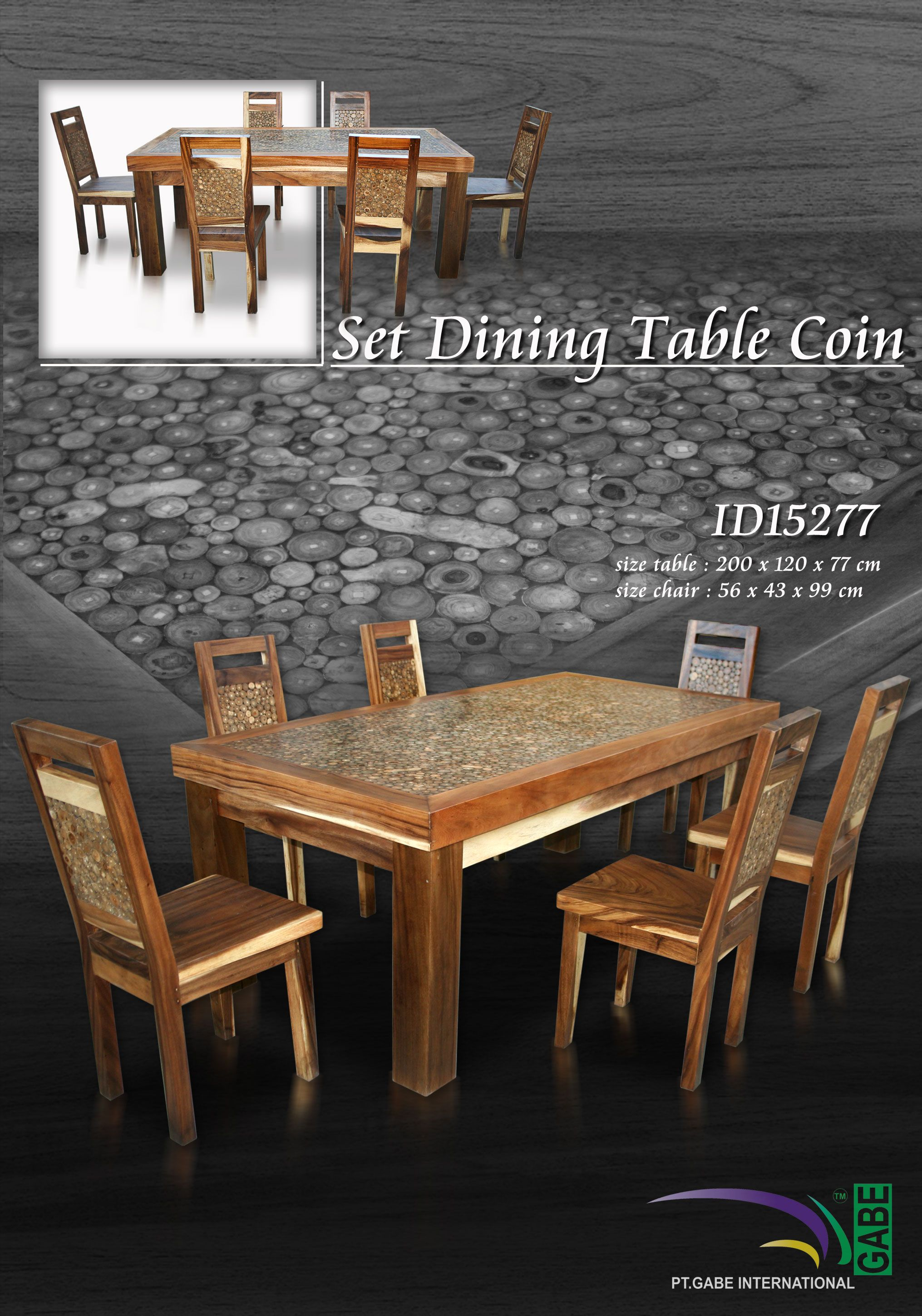 It Is Dining Table Made From Solid Wood, On Top On The Table Created As  Mosaic, The Ornament Of Mosaic From Teak Branch.