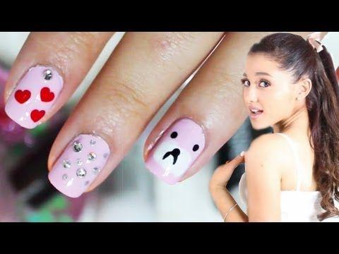 Ariana Grande Cute Nails | Nail Tutorial - YouTube