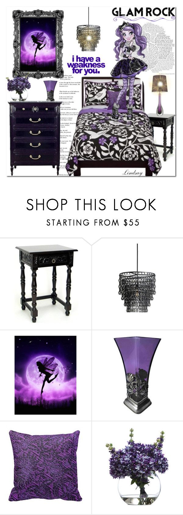 """""""Kitty"""" by lindsayd78 ❤ liked on Polyvore featuring interior, interiors, interior design, home, home decor, interior decorating, Currey & Company, Lux-Art Silks, disney and designboard"""