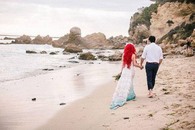 So Wurde Arielle Heiraten Meerjungfrau Hochzeit Heiraten Disney Hochzeitsideen