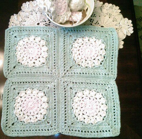 Flower Burst Square, free pattern by Chris Simon | Granny square ...