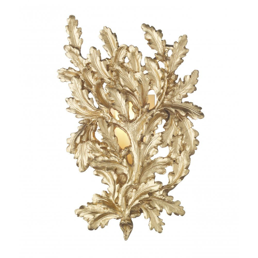 The David Hunt Lighting Collection OAK decorative gold leaf wall ...