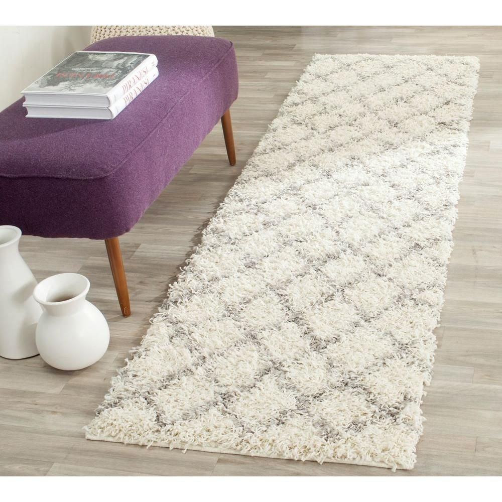 Dallas shag ivorygray ft in x ft runner products