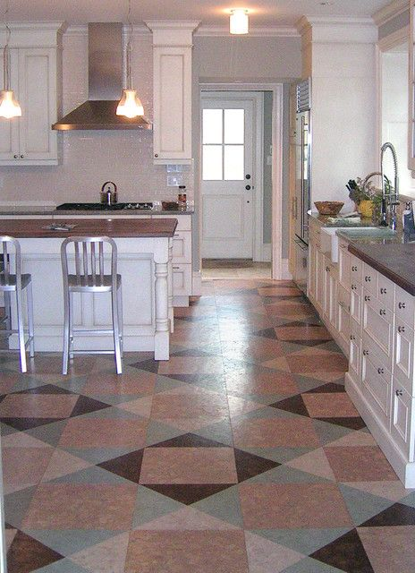 Quilt Style Globus Cork Floor In Kitchen Renovation   Eclectic   Kitchen    Philadelphia   Globus Cork