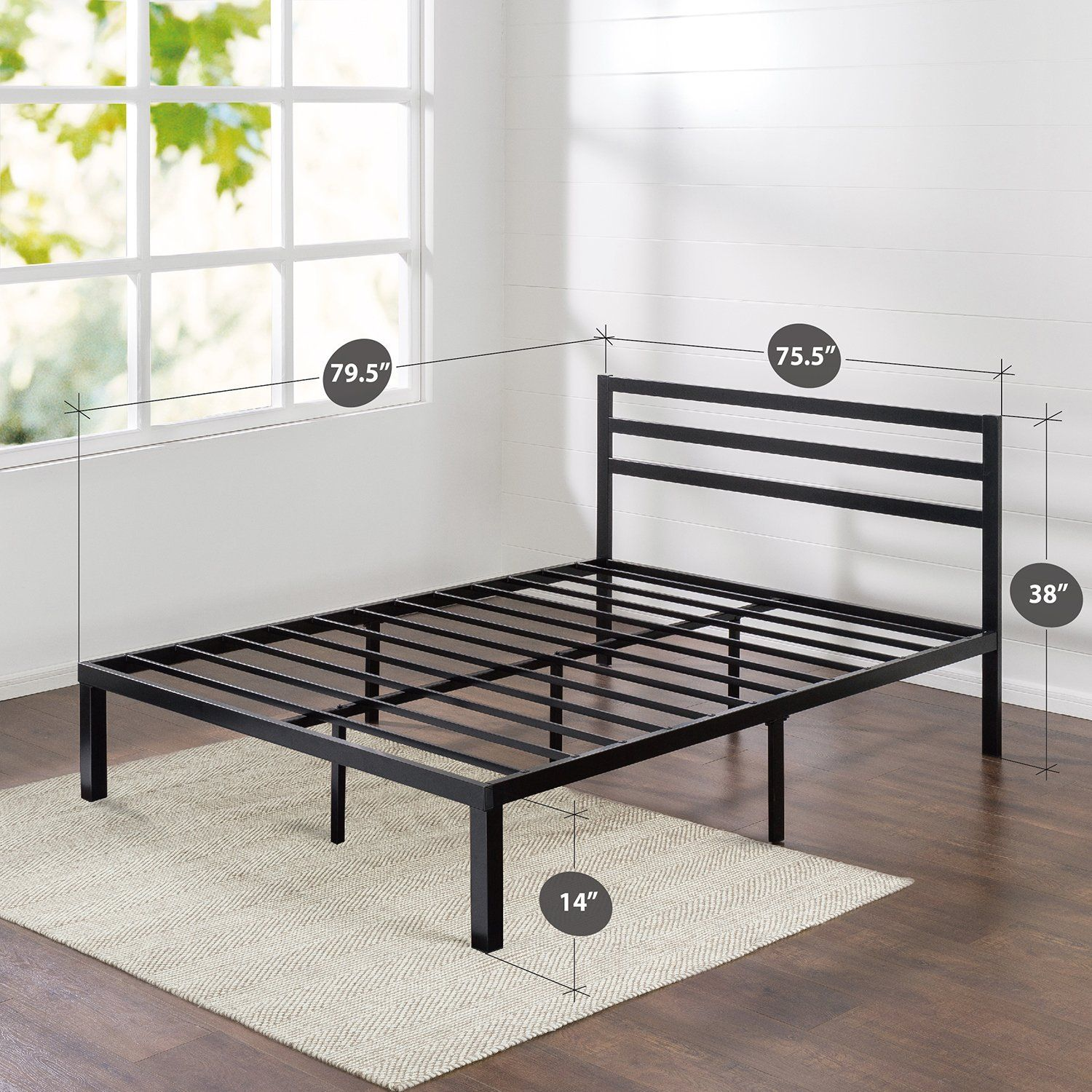 Amazon Com Zinus Quick Lock 14 Inch Metal Platform Bed Frame With