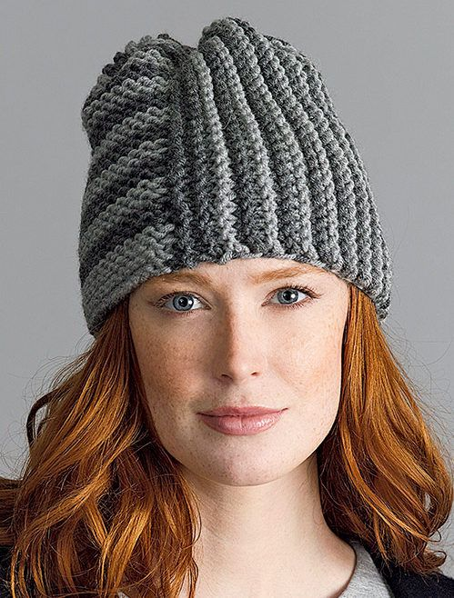 Free Knitting Pattern For Beginner Two Square Hat Easy Hat Perfect