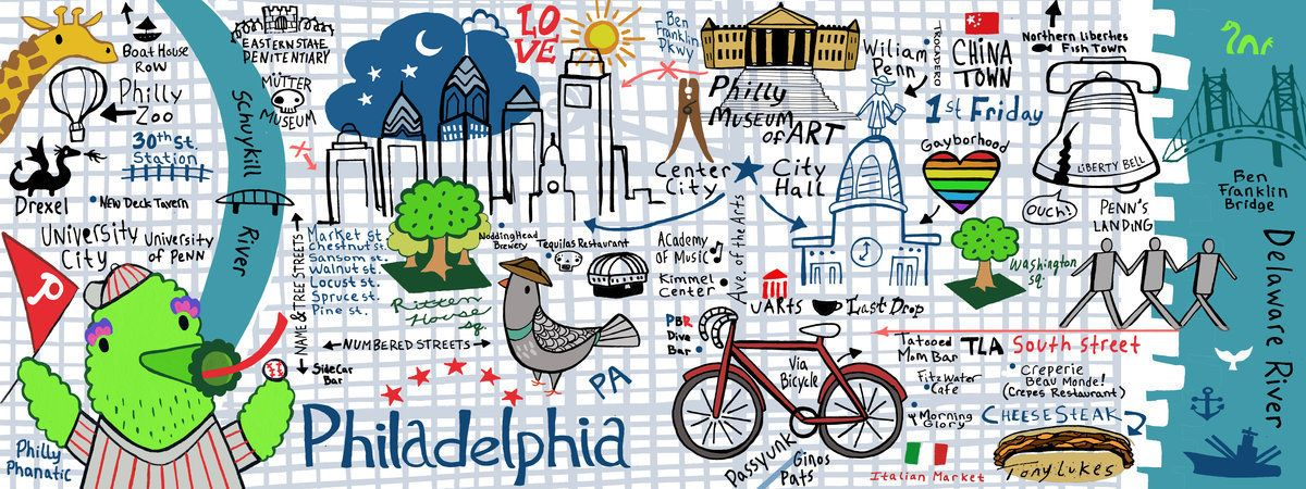 map of central philadelphia Philadelphia Map Cool Website With Different Printable Maps map of central philadelphia