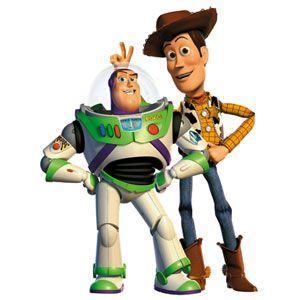 En toy story los protagonistas son juguetes los protagonistas el vaquero  Woody y el guardián espacial Buzz Lightyear 0319ba7097f