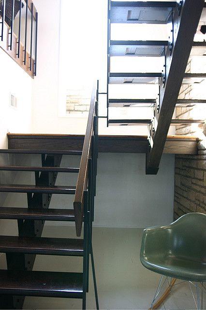 Lighting Basement Washroom Stairs: Modern Stairs, Modern