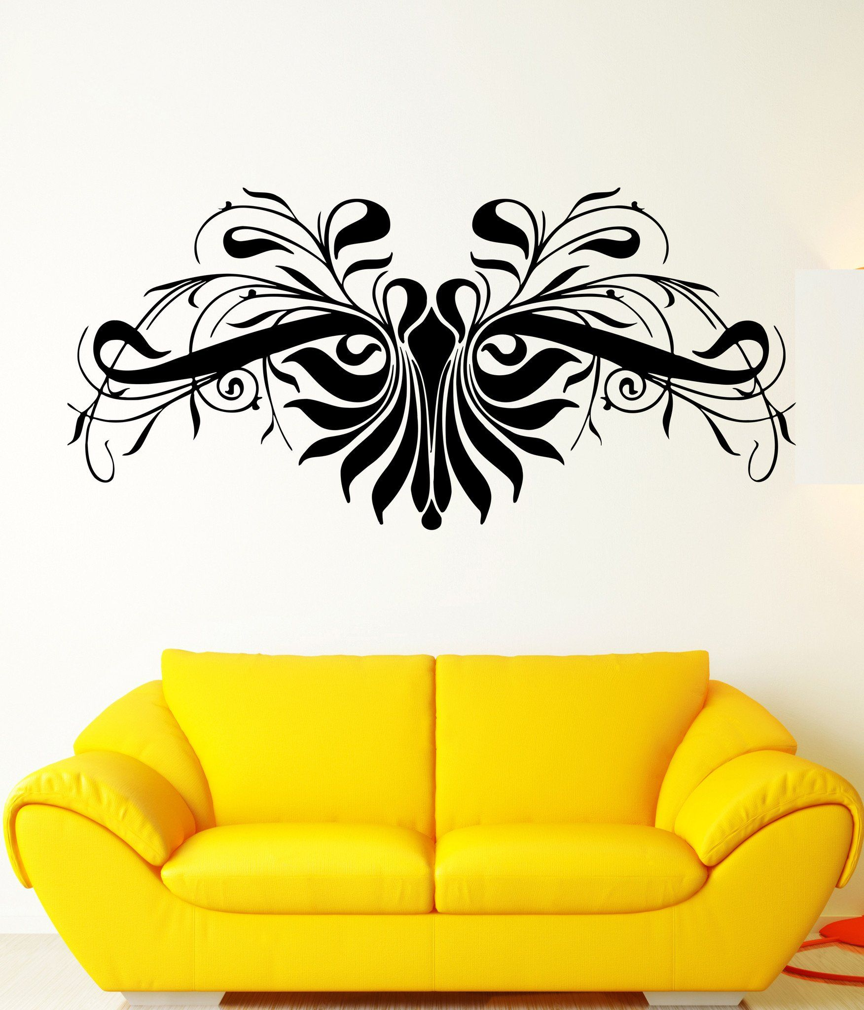 Wall Decal Ornament Pattern Beautiful Character Bedroom Vinyl Decal ...