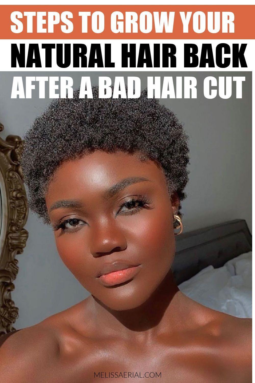 Bad Haircut On Your Natural Hair In 2020 Natural Hair Styles Hair Growth Diy 4c Natural Hair Care