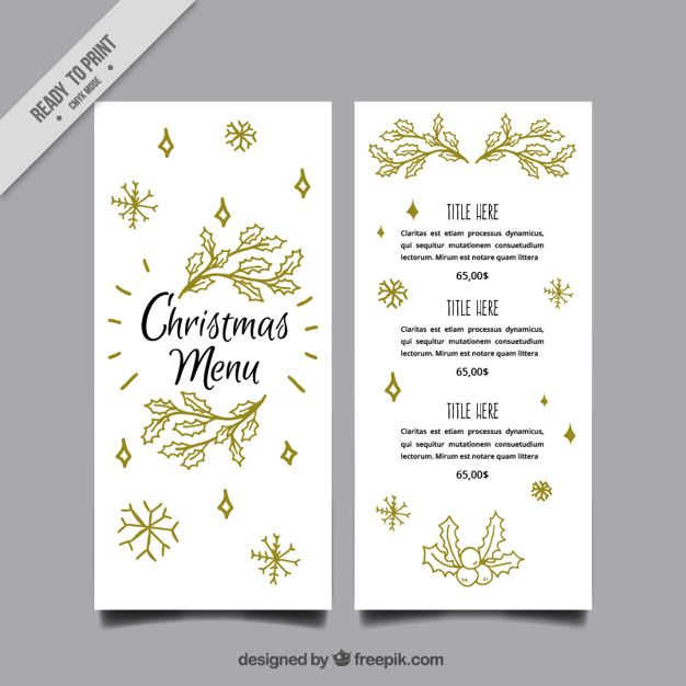 Pin by Marzia Mazzolino on graphic Pinterest Elegant christmas - free xmas menu templates