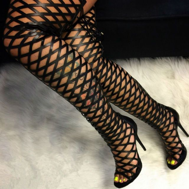 Super Glamorous Lust for Life Caged Boots | **DESIGNER SHOES ...